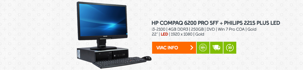 PC zostava HP Compaq 6200 Pro SFF + Philips 221S Plus