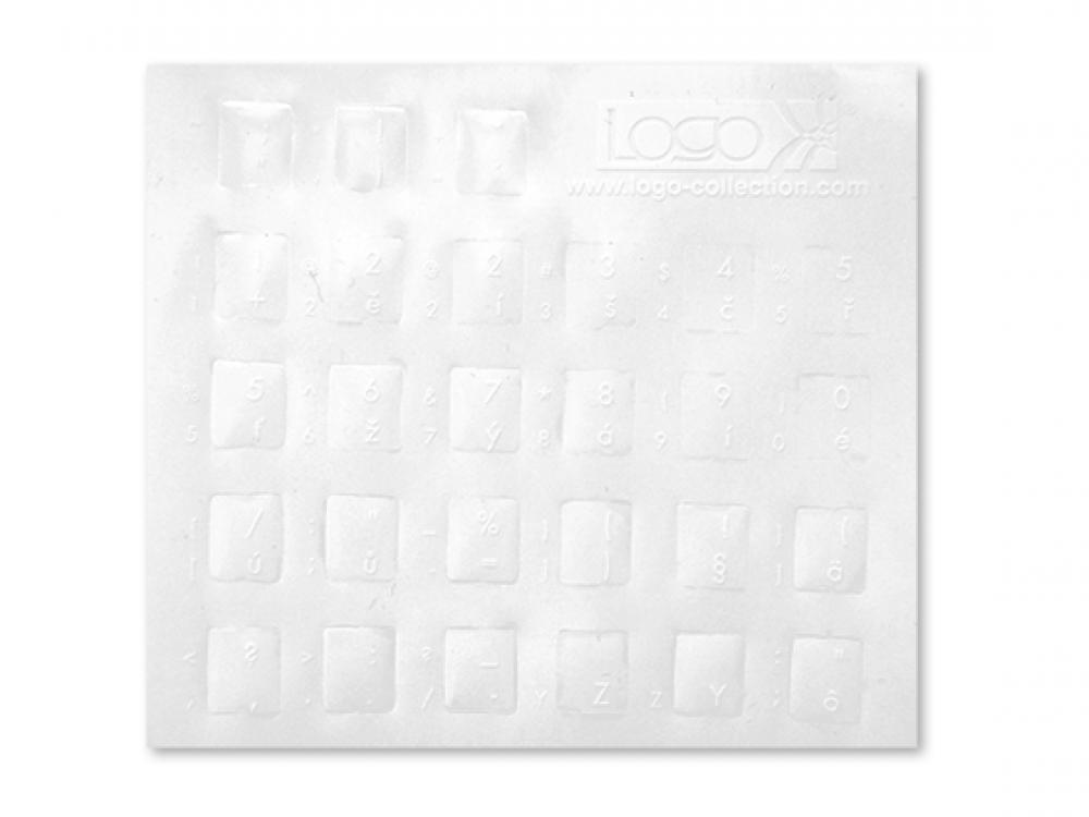 Prelepky na klávesnice LOGO Biela - SK-CZ - NEW