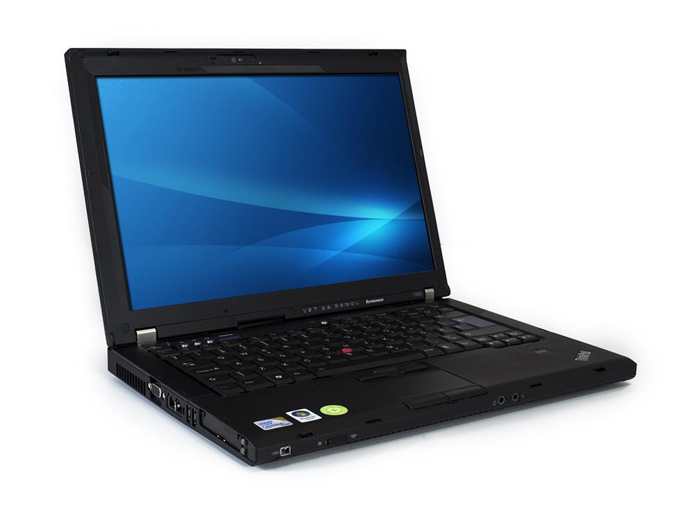 """LENOVO ThinkPad T400 - C2D P8400   4GB DDR3   160GB HDD 2,5""""   DVD-ROM   14,1""""   1440 x 900   GMA 4500MHD   B"""
