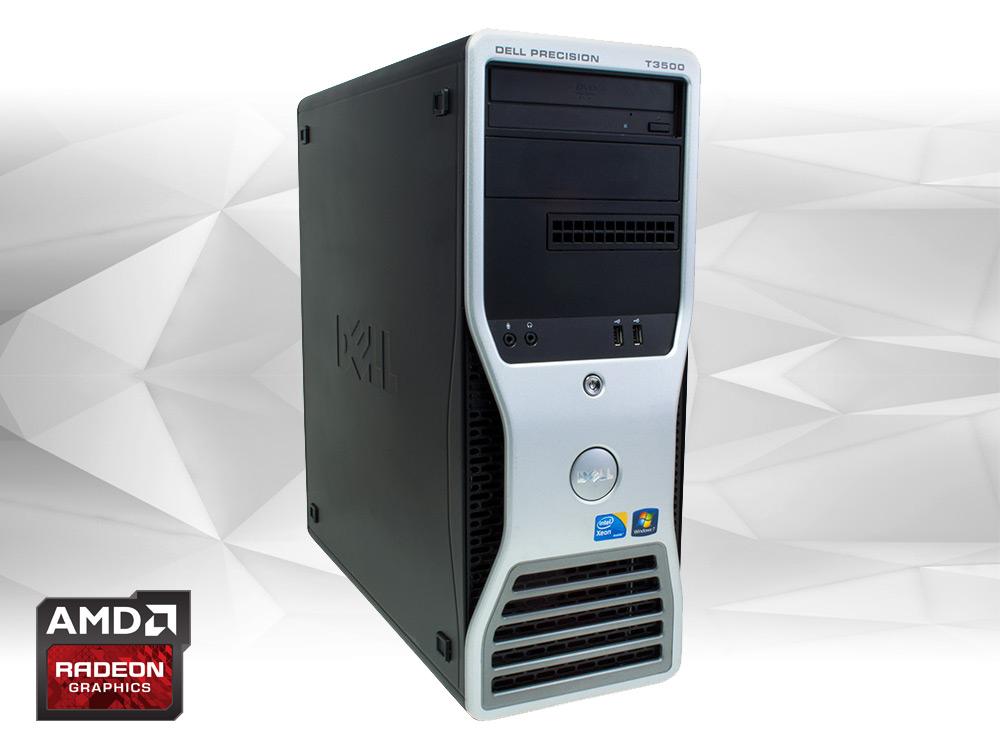 "DELL Precision T3500 + RX570 8GB - TOWER | Xeon W3670 | 16GB DDR3 | 120GB SSD | 500GB HDD 3,5"" | DVD-RW | Radeon RX570 8GB | Win 7 Pro COA | A-"