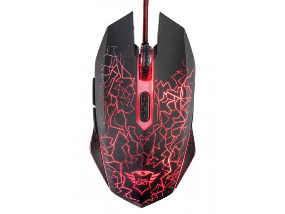 Myš Trust GXT 105 Izza Illuminated Gaming Mouse -