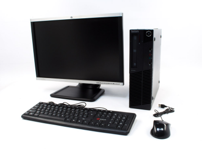 PC zostava LENOVO ThinkCentre M81 SFF + HP Compaq LA2205wg 22