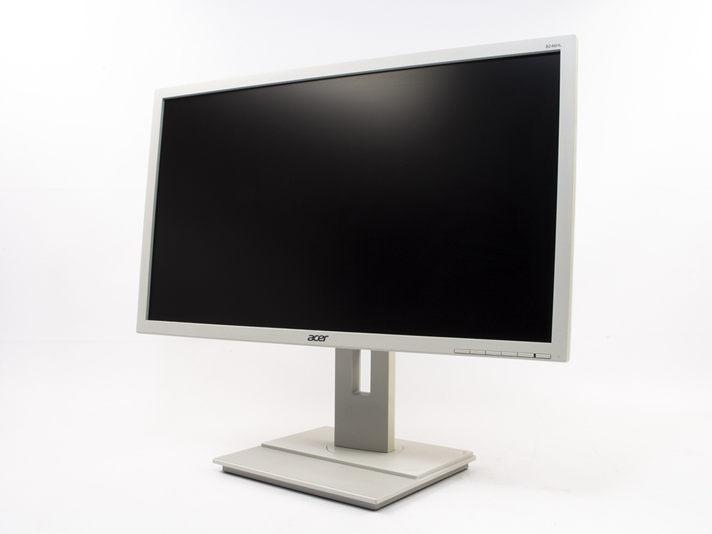 "ACER B246HL white - 24"" | 1920 x 1080 (Full HD) | LED | DVI | VGA (d-sub) | Speakers | Gold"