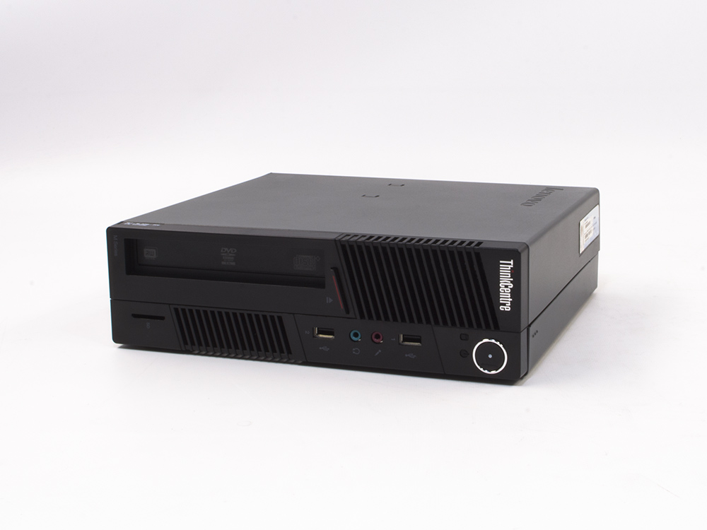 "LENOVO ThinkCentre M91 USFF - USFF | i3-2100 | 4GB DDR3 | 250GB HDD 3,5"" | DVD-RW | HD 2000 | Win 7 Pro COA | A-"