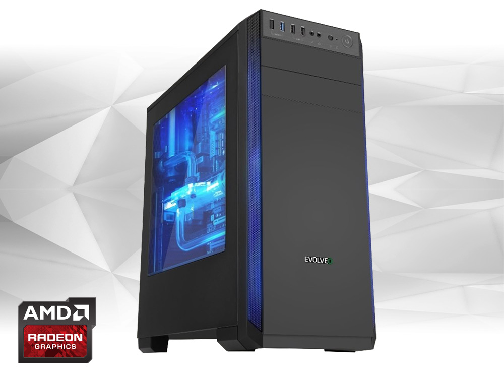 Furbify GAMER PC 4 Tower i5 + Radeon RX470 8GB - TOWER | i5-4440 | 8GB DDR3 | 240GB SSD | 500GB HDD 3,5"