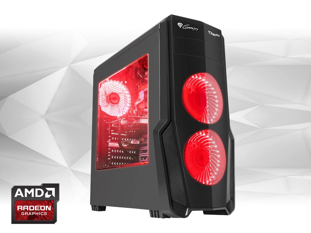 Furbify GAMER PC 4 Tower i5 + Radeon RX Vega 64 8GB - TOWER | i5-4460 | 16GB DDR3 | 240GB SSD | DVD-RW | Radeon RX Vega 64 8GB | Win 10 Pro | HDMI | Platinum | 700W