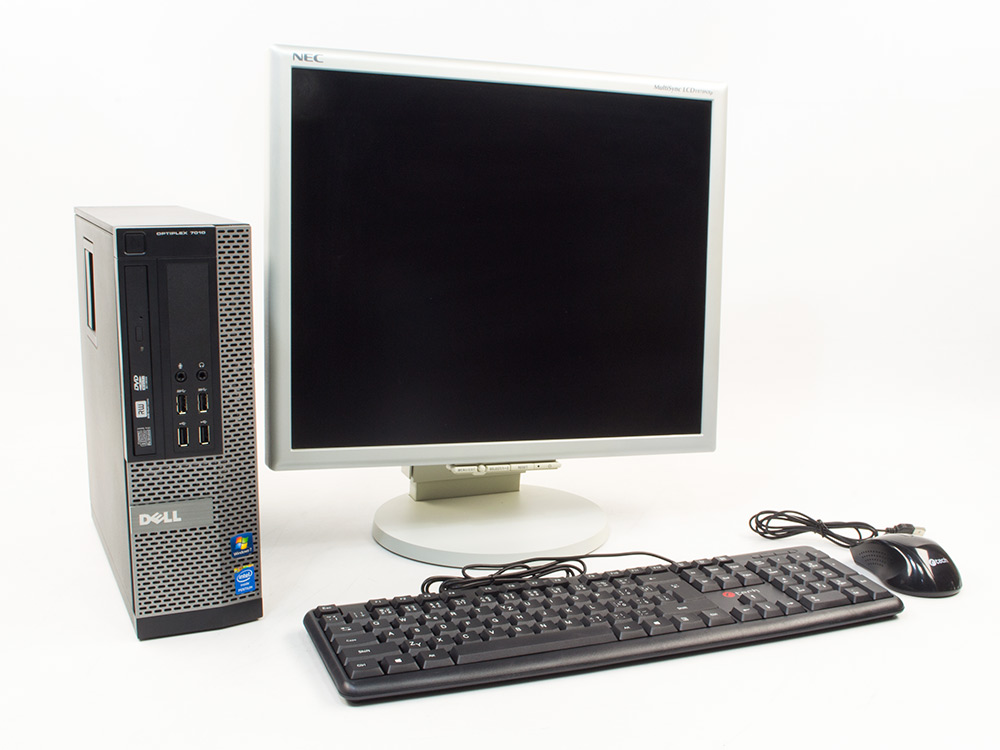 "LENOVO DELL OptiPlex 7010 SFF + NEC Multi Sync 1970NX 19"" - Pentium G2030 