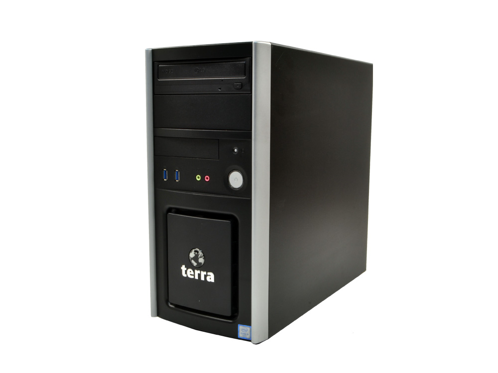 TERRA PC 6 Tower - TOWER | i3-6100 | 8GB DDR4 | 250GB SSD | DVD-RW | HD 530 | Win 10 Home | HDMI | Silver