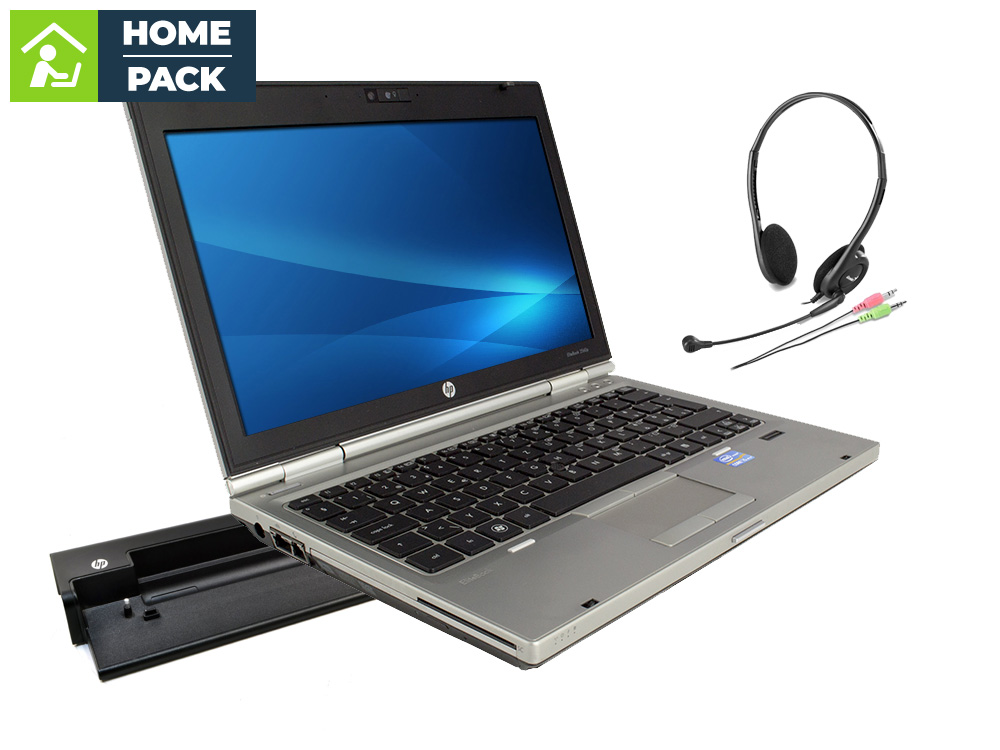 HP EliteBook 2560p + Docking station HP HSTNN-I15X + Headset MHS-02 - i5-2520M | 4GB DDR3 | 320GB HDD 2,5"