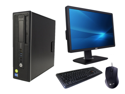 PC sestava HP ProDesk 600 G1 SFF + Monitor DELL Professional P2212H + Keyboard & Mouse