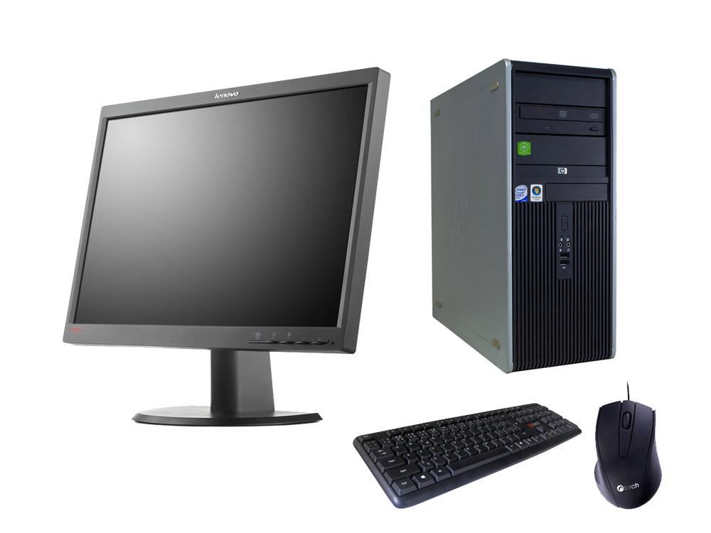 "HP Compaq DC7800p T+ 22"" LENOVO ThinkVision L2251p - TOWER   C2D E6750   4GB DDR2   250GB HDD 3,5""   DVD-RW   GMA 3100   Silver"
