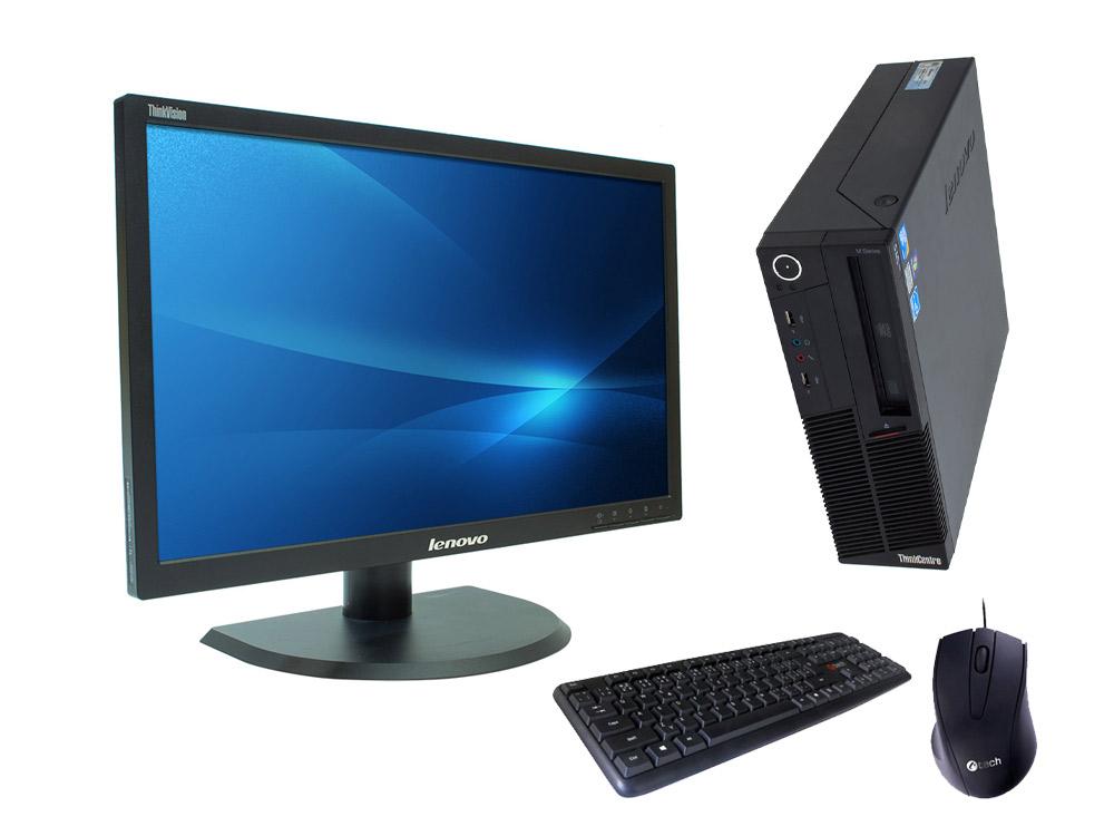 "LENOVO Lenovo ThinkCentre M90p SFF + 22"" Lenovo ThinkVision LT2252p - SFF | i5-650 | 4GB DDR3 | 500GB HDD 3,5"" | DVD-RW | Intel HD | Win 7 Pro COA | Silver"