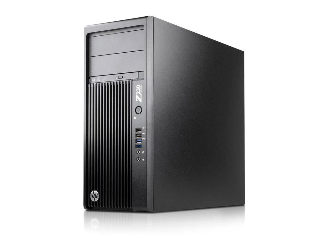 HP Z230 Workstation - TOWER | i7-4790 | 8GB DDR3 | 256GB SSD | DVD-RW | Quadro K600 | Win 10 Pro | Silver