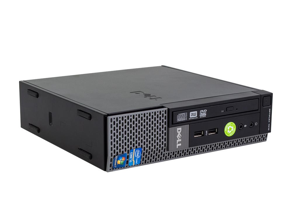 """Dell OptiPlex 7010 USFF - USFF   i7-3770S   4GB DDR3   250GB HDD 2,5""""   Intel HD   Win 7 Pro COA   Silver"""