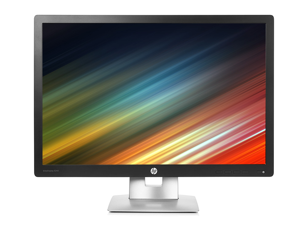 "HP Elitedisplay E242 - 24"" | 1920 x 1200 | LED | VGA (d-sub) | DP | USB 2.0 | Silver | IPS"