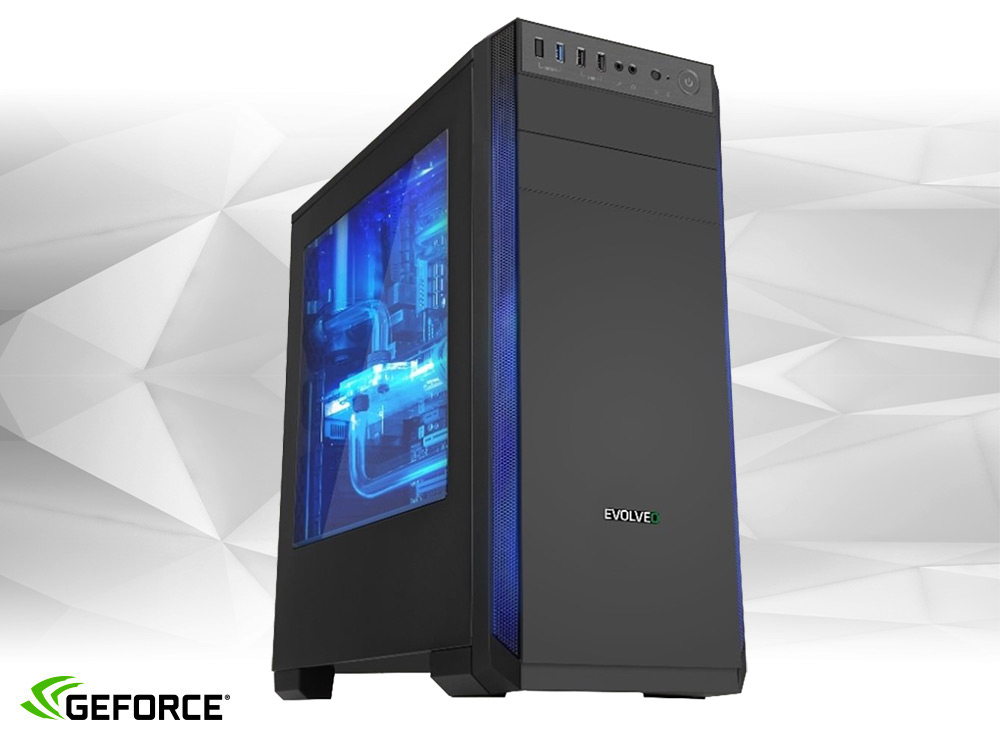 Furbify GAMER PC - FOXY -  GTX 1070 Ti 8GB - TOWER | i5-4570 | 8GB DDR3 | 240GB SSD | DVD-RW | Nvidia GeForce GTX 1070 Ti 8GB | Win 7 Pro COA | HDMI | Platinum | ATX 500W