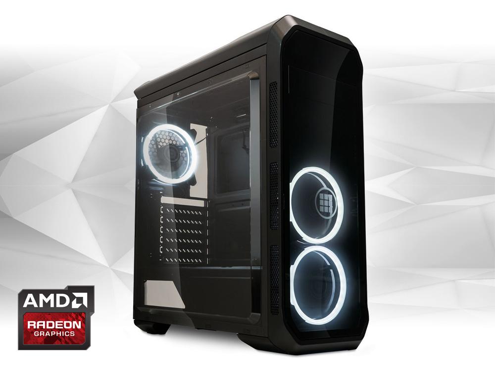 "Furbify GAMER PC ""Newton"" Tower i3 + ASUS Strix RX570 O4G 4GB - TOWER | i3-6100 | 8GB DDR4 | 240GB SSD | DVD-RW | Radeon RX 570 4GB | HDMI | Platinum | ATX 500W"