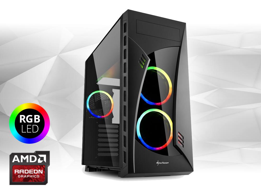 "Furbify PC Tower ""Rainbow"" + Radeon RX470 8GB - TOWER   i5-6500   8GB DDR4   250GB SSD   DVD-RW   Radeon RX470 8GB   Win 10 Home   HDMI   Platinum"