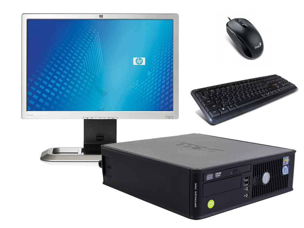 """Dell OptiPlex 745 SFF (Bronze) + 20,1"""" HP L2045W (Bronze) + Klavesnica a Myš - SFF   C2D E6300   4GB DDR2   120GB SSD   DVD-ROM   GMA 3000   Win 7 Pro COA   Bronze"""